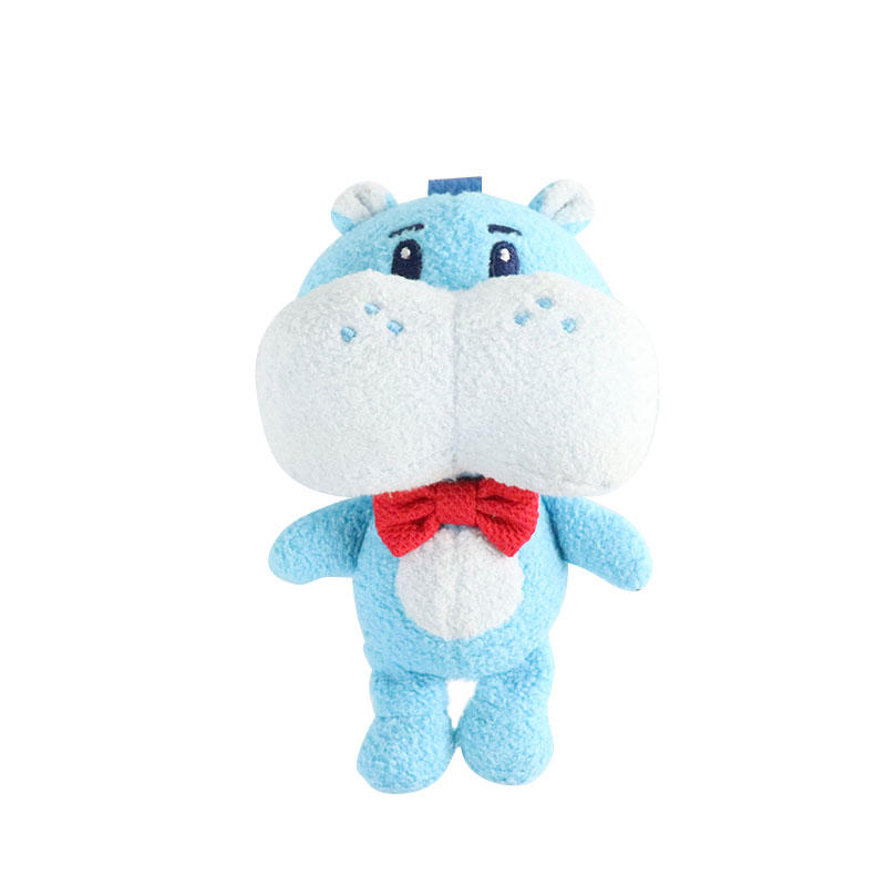Soft Custom Hippo Plush Toy Pendant Wholesale With Logo