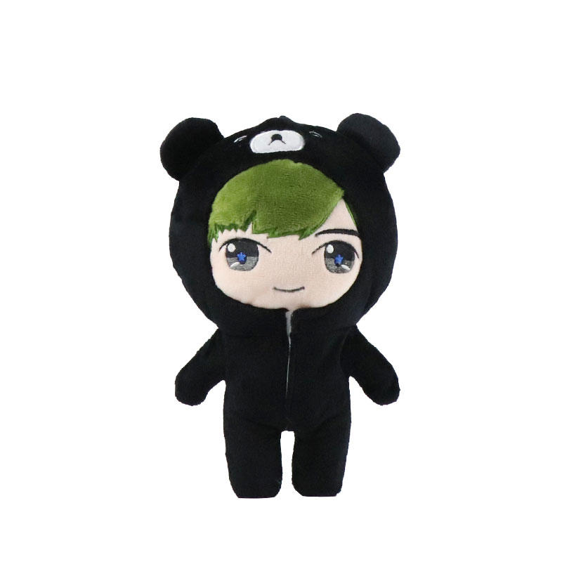 Cartoon Custom Plush Toy Doll With Hoodie Wholesale