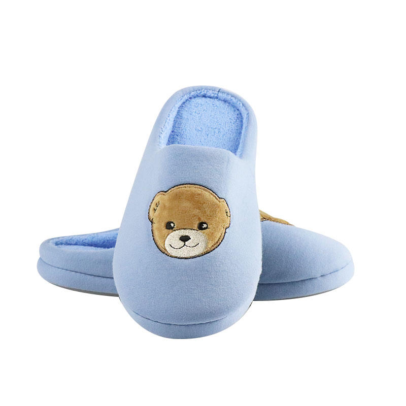 Custom Plush Animal Indoor Slippers Plush Bear Slippers Wholesale