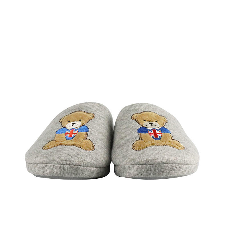 Soft Plush Teddy Bear Slippers Wholesale With Custom Logo