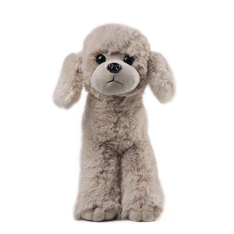 Stuffed Plush Toy Poodle Wholesale With Custom Logo Hooded Clothes