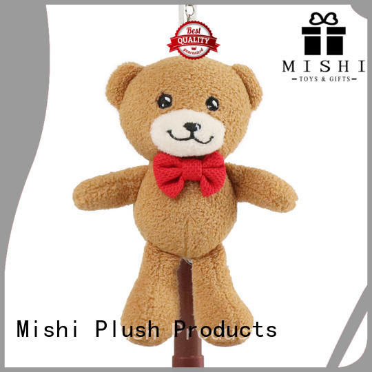 Mishi top cute plush keychains factory for gifts