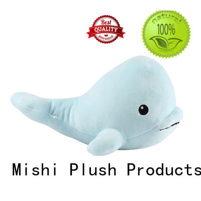 Mishi whale new plush toys factory for gifts