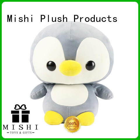 Mishi funny plush toys with custom logo for business