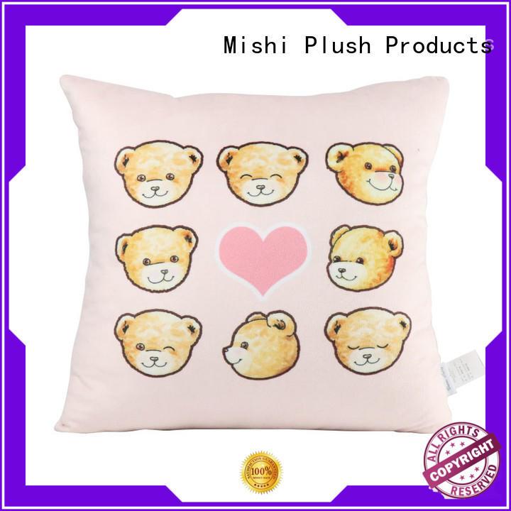 Mishi cartoon plush cushion covers with custom logo for home