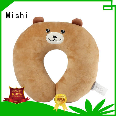 latest fluffy neck pillow with logo for sleeping