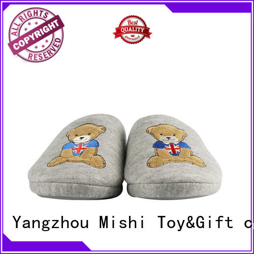 Mishi indoor soft plush slippers factory for sale
