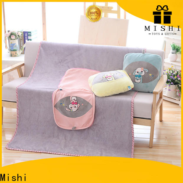 Mishi plush cushions with custom logo for living room
