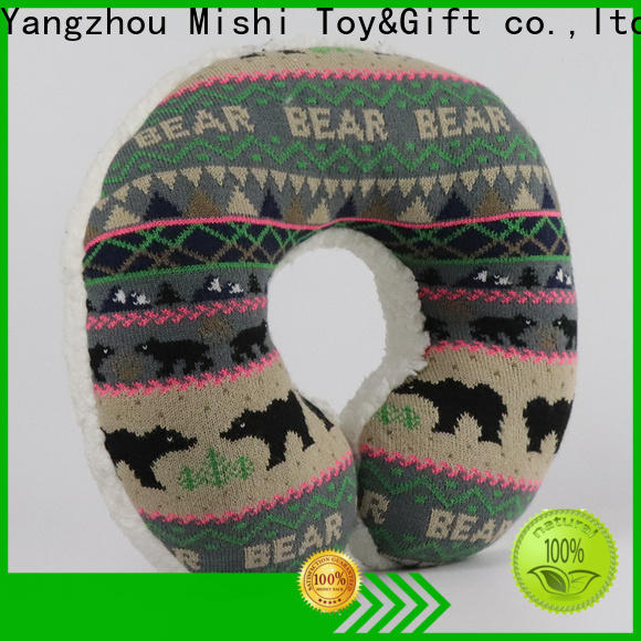 Mishi best fluffy neck pillow with custom printing for gifts