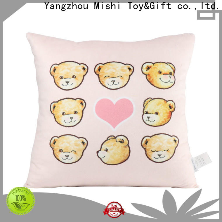 Mishi custom plush cushion suppliers for living room