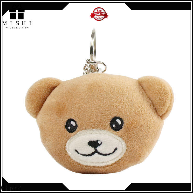 Mishi teddy bear cute plush keychains with logo for presents