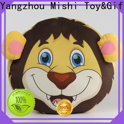 Mishi custom plush cushion with custom logo for living room