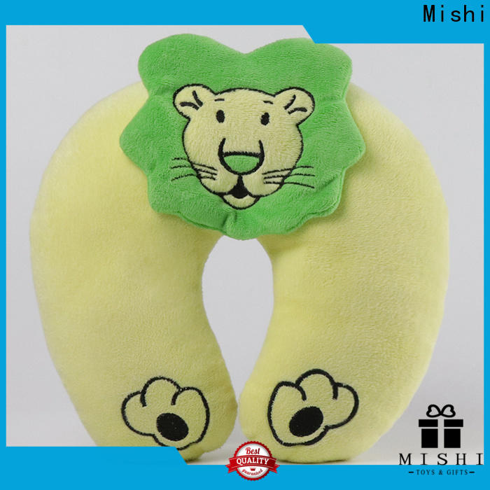 wholesale plush travel pillow with custom printing for business