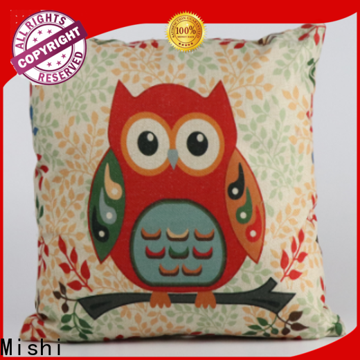 Mishi custom plush cushion supply for living room