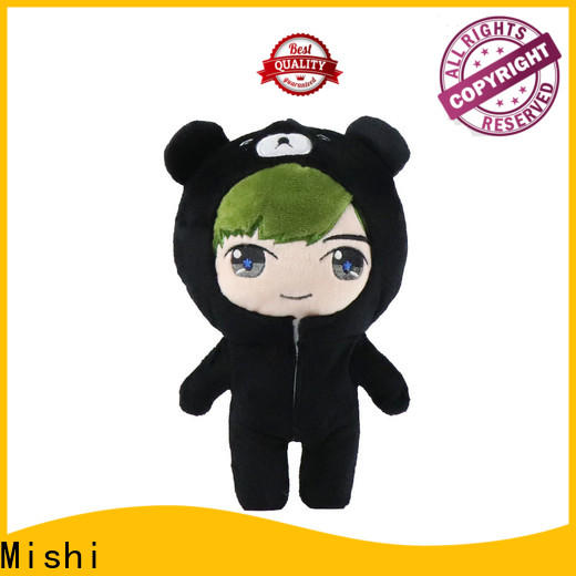 Mishi custom plush toy with hoodies for business