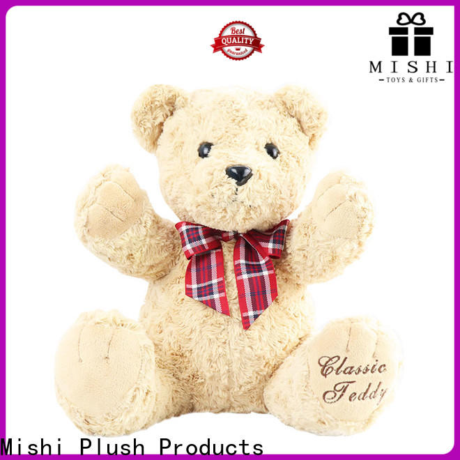 Mishi plush toy manufacturers factory for kids
