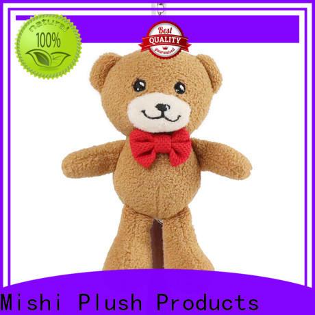 Mishi teddy bear plush keyring with logo for sale