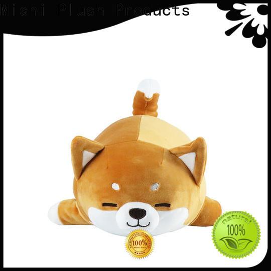 Mishi bull plush toys wholesale with custom logo for sale