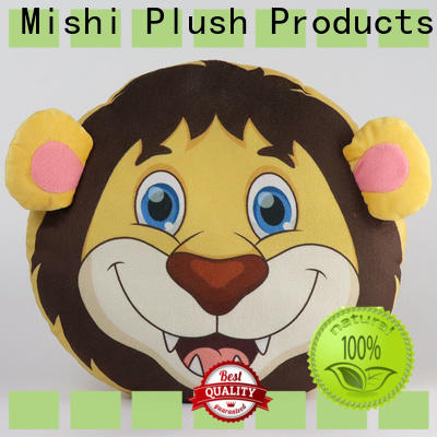 Mishi plush cushion covers with custom logo for gifts
