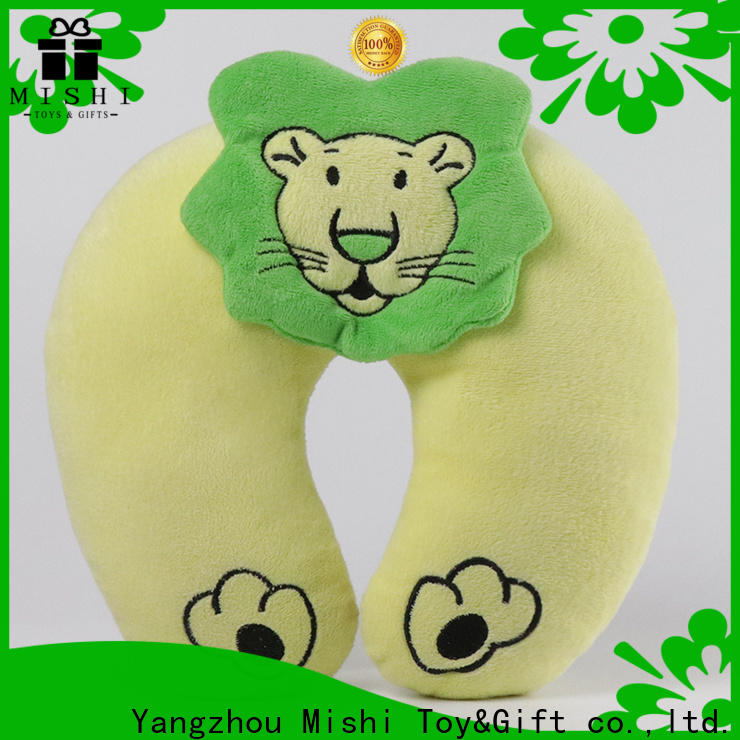 Mishi high-quality fluffy neck pillow with logo for gifts