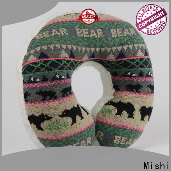 Mishi fast delivery fuzzy neck pillow suppliers for gifts