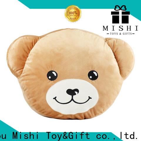 Mishi cartoon custom plush cushion suppliers for living room