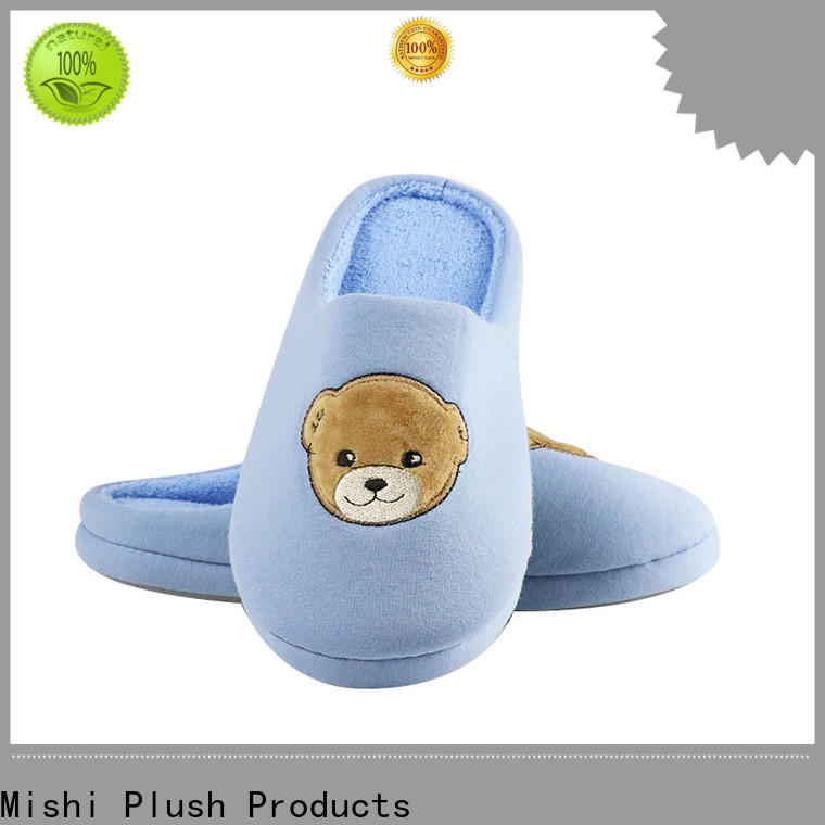 Mishi best plush slippers with printing logo for home
