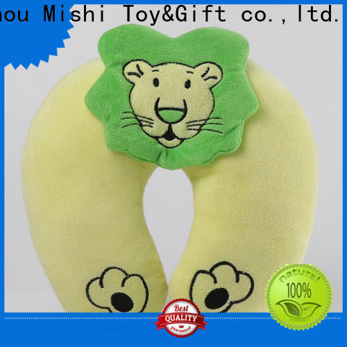Mishi plush pillow with logo for sale