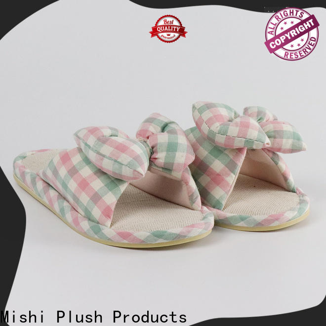 Mishi superior quality best plush slippers supply for sale