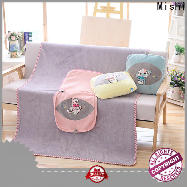 Mishi custom plush blankets with logo for business