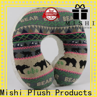 Mishi new fuzzy neck pillow with custom printing for gifts