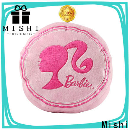 Mishi plush cushion with custom logo for living room