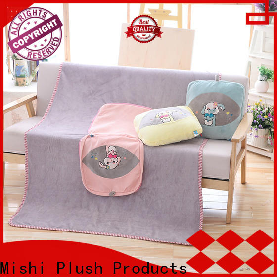 Mishi top plush cushion covers hand warmer for living room