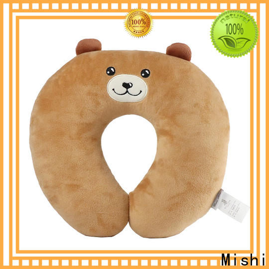 Mishi fuzzy neck pillow with custom printing for gifts