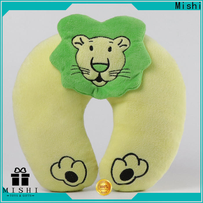 Mishi custom plush pillow with custom printing for sleeping