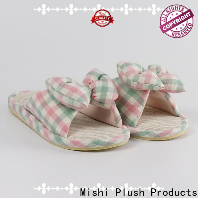 Mishi custom plush slipper with logo for sale