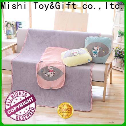 Mishi custom custom plush blankets with logo for living room