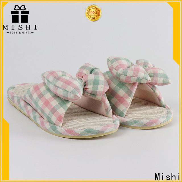 Mishi soft plush slippers factory for sale