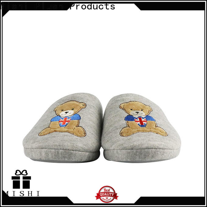 Mishi superior quality plush slipper suppliers for sale
