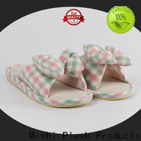 Mishi plush slipper factory for sale