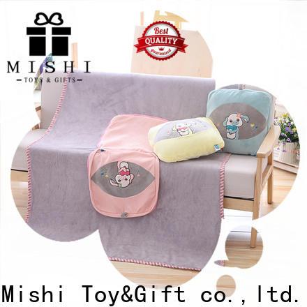 Mishi custom softest plush blanket with printing logo for business
