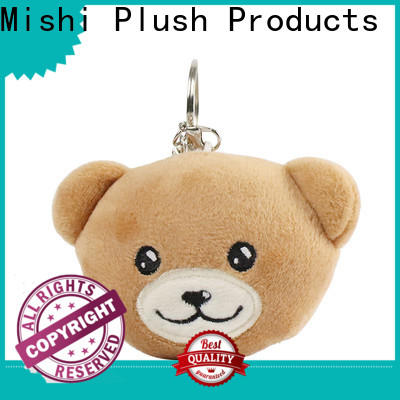 Mishi fast delivery custom plush keychain suppliers for gifts