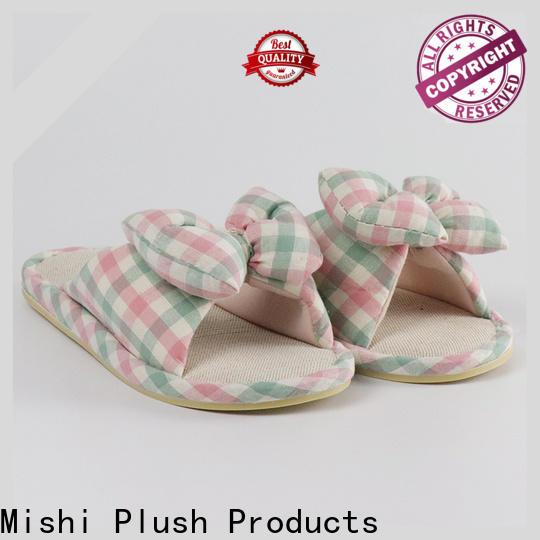 Mishi custom plush slipper suppliers for sale