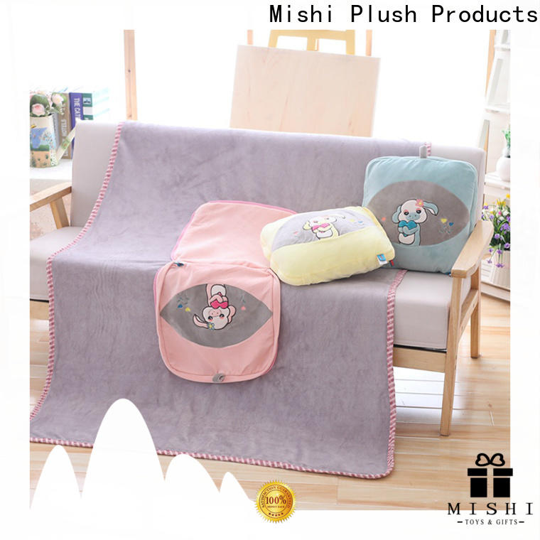 printed plush cushion with custom logo for home