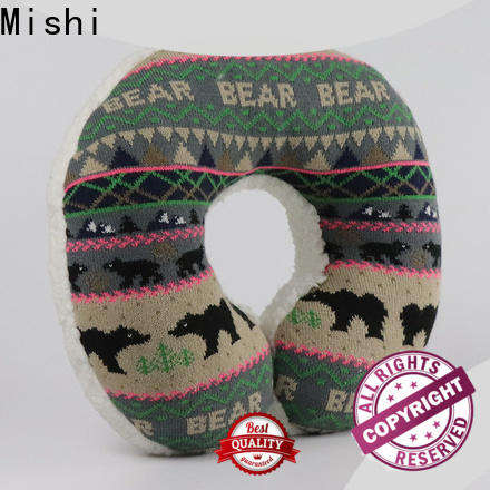 Mishi new fluffy neck pillow with logo for gifts