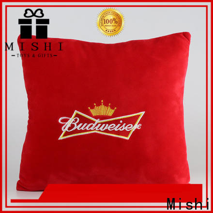 Mishi plush cushions with custom logo for gifts