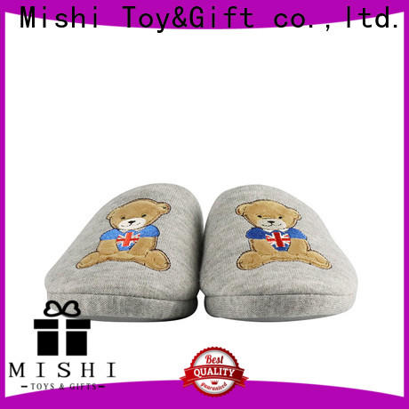 Mishi wholesale custom plush slipper supply for business
