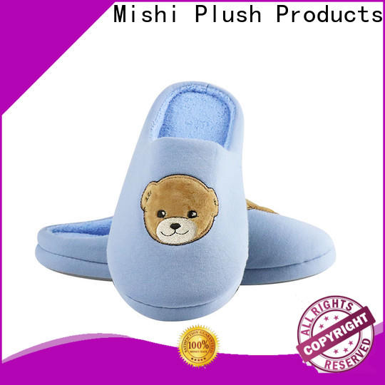 Mishi custom plush slipper with logo for sale