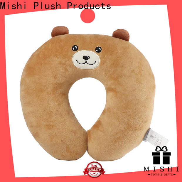 Mishi hot sale fuzzy neck pillow factory for gifts