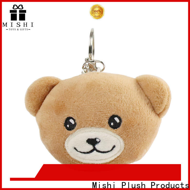 Mishi fast delivery custom plush keychain company for sale